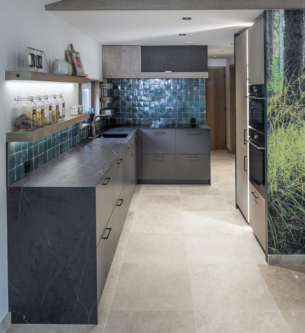 Keuken met werkblad in Dekton